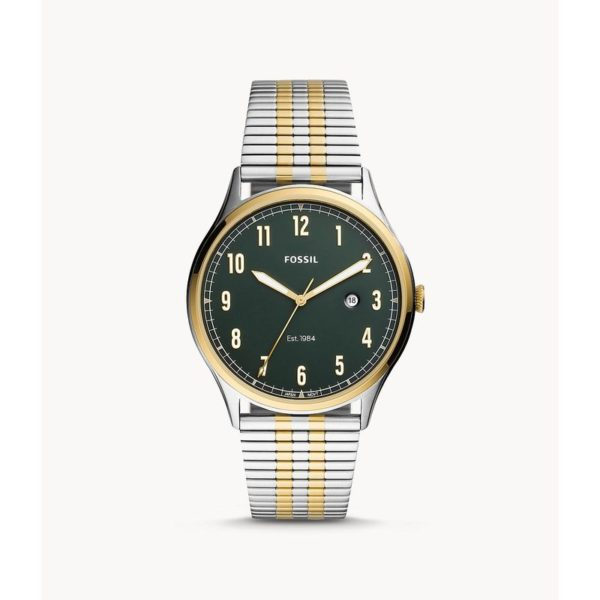 Fossil Forrester Three-Hand Date Two-Tone Stainless Steel Watch FS5596