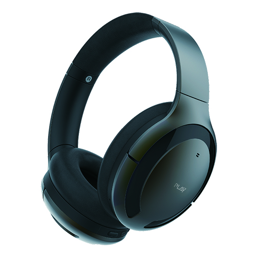 Play PLAYGO BH70 AI Based Wireless Noise Cancelling Headphones Grey