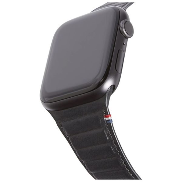 Decoded 38-40mm Leather Magnetic Traction Strap For Apple Watch Black
