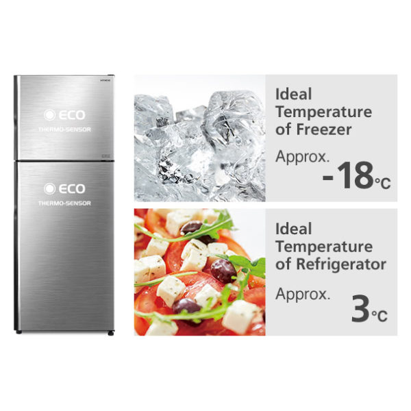 Hitachi Top Mount Refrigerator 330 Litres RH330PUK7KBSL