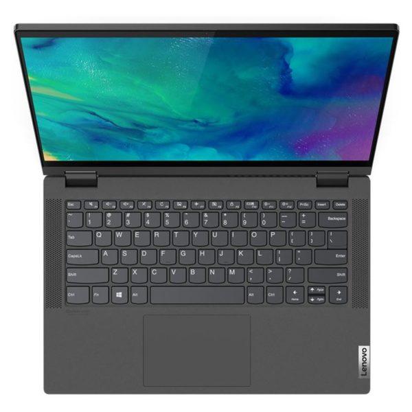 Lenovo IIdeaPad Flex 5 14IIL05 Convertible Touch Laptop - Core i5 1GHz 8GB 1TB 2GB Win10 14inch FHD Graphite Grey English/Arabic Keyboard