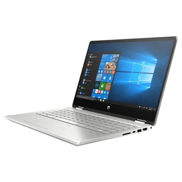 HP Pavilion x360 14-DH1025NE Convertible Touch Laptop - Core i3 2.1GHz 4GB 256GB Shared Win10 14inch FHD Mineral Silver English/Arabic Keyboard