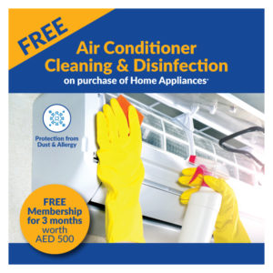Free 3months Membership For AC Cleaning & Disinfection/Sanitization Worth AED 500