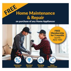 Free 3 Months Home Maintenance & Repair Membership Worth AED 400
