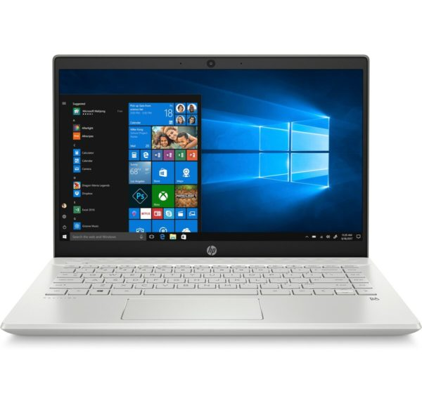 HP Pavilion 14-CE3009NE Laptop - Core i7 1.3GHz 16GB 1TB 4GB Win10 14inch FHD Silver English/Arabic Keyboard
