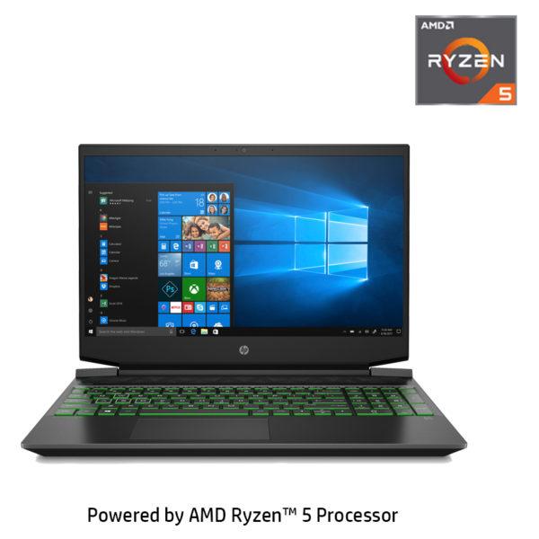 HP Pavilion 15-EC0003NE Laptop - Ryzen 5 2.1GHz 16GB 1TB+256GB 4GB Win10 15.6inch FHD Black English/Arabic Keyboard