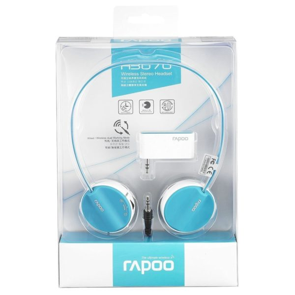 Rapoo Bluetooth Stereo Headset Blue With Mic H6020
