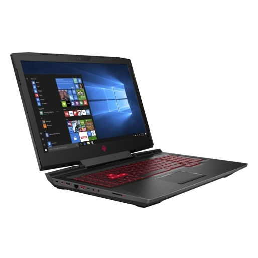 HP OMEN 17-AN002NE Gaming Laptop - Core i7 2.8GHz 12GB 1TB+256GB 4GB Win10 17.3inch FHD Black