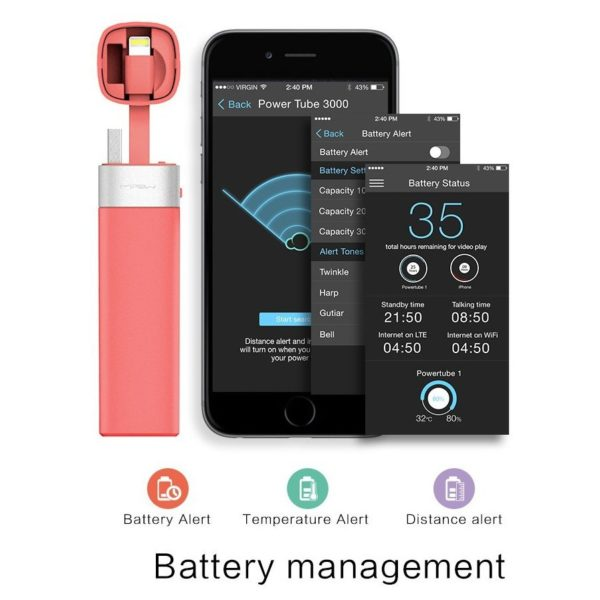 Mipow Power Bank 3000mAh Pink - SPL06APK