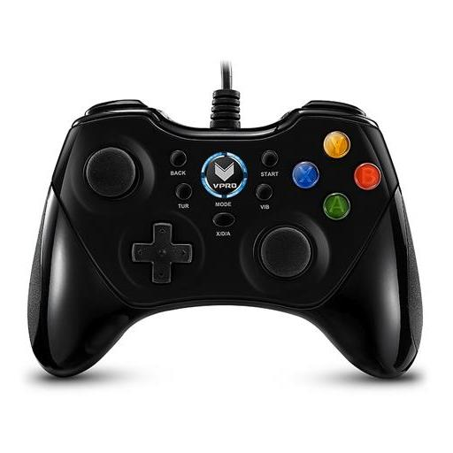 Rapoo V600 Ergonomic Vibration Controller Gamepad Black For Windows/PS3/Android