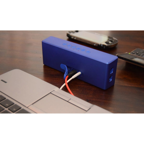 Creative MUVO 2 Portable Water Resistant Bluetooth Speaker With Built In MP3 Player Metallic Blue MF8255