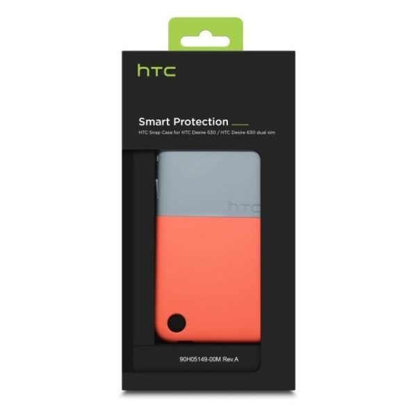 HTC HCC1250 Two Tone Snap Case Mineral Grey/Coral Red For Desire 530/630