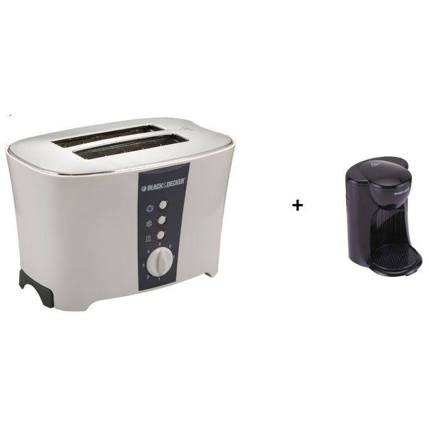 Black Decker ET122 Toaster+DCM25B5 Coffee Maker