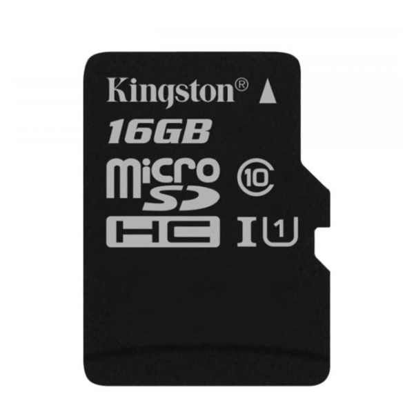 Kingston SDCS16GB Canvas MicroSDHC Class10 Memory Card 16GB With SD Adapter