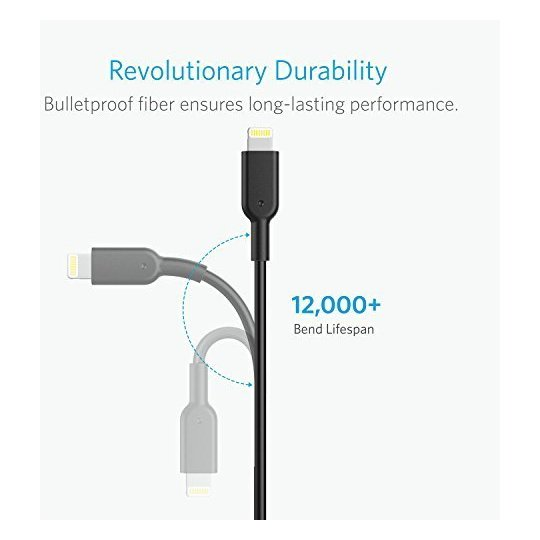 Anker Powerline II Lightning Cable 3m Black - A8434H11