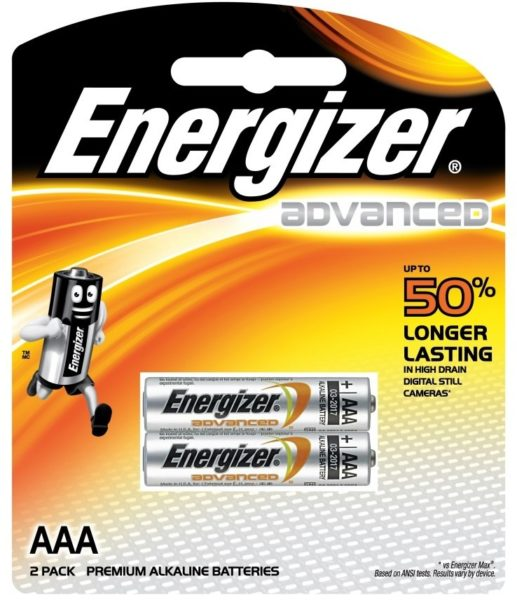 Energizer X92BP2 Advance Alkaline Battery AAA 2pcs
