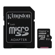 Kingston SDCS128GB Canvas MicroSDXC Class10 Memory Card 128GB With SD Adapter