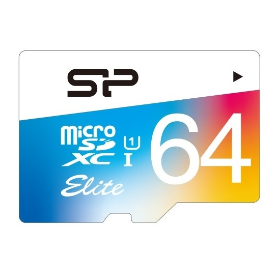 Silicon Power Elite Micro SDXC Card 64GB Class 10 With Adapter