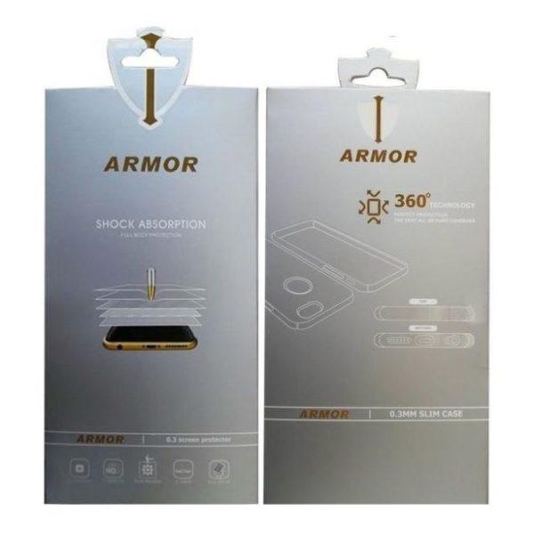 online retailer 0a765 7950e Armor Nano Glass Anti Broken Screen Protector+Transparent PVC 360 Cover For  Apple iPhone XS