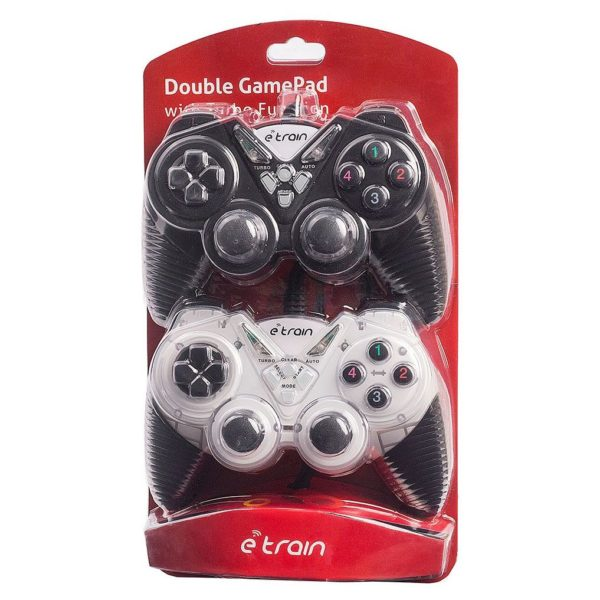 Etrain GP054 Wired Double Game Pad Black/Silver
