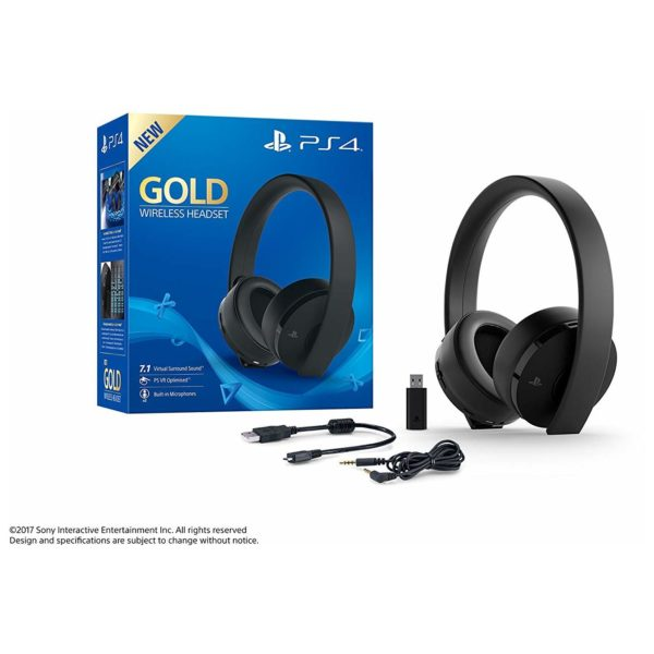 Sony CUHYA0080 Gold Wireless 7.1 On Ear Gaming Headset Black For PS4