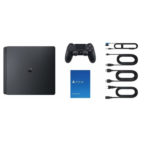 Sony PS4 Slim Gaming Console 500GB Black + Call Of Duty Black OPS III + God of War + Uncharted 4 + 3 Month Playstation Plus Membership