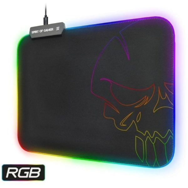 Spirit Of Gamer Gaming Mouse Pad Medium With Backlight Black